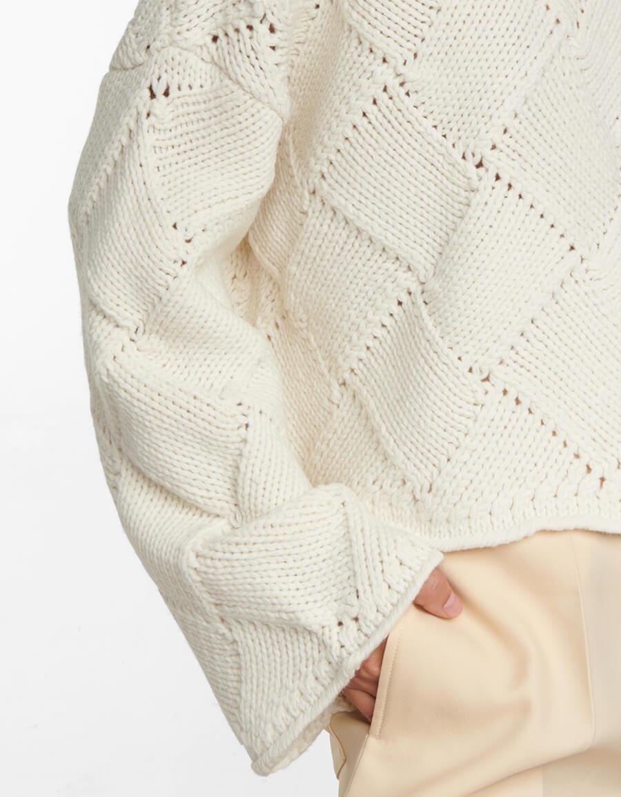 JW ANDERSON Diamond knit merino wool blend sweater