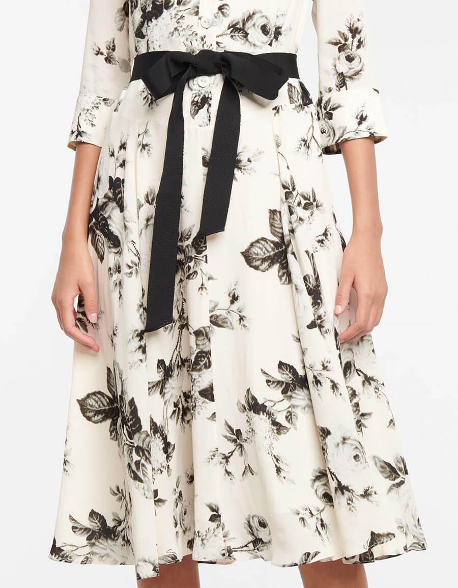 ERDEM Margot floral crêpe midi dress
