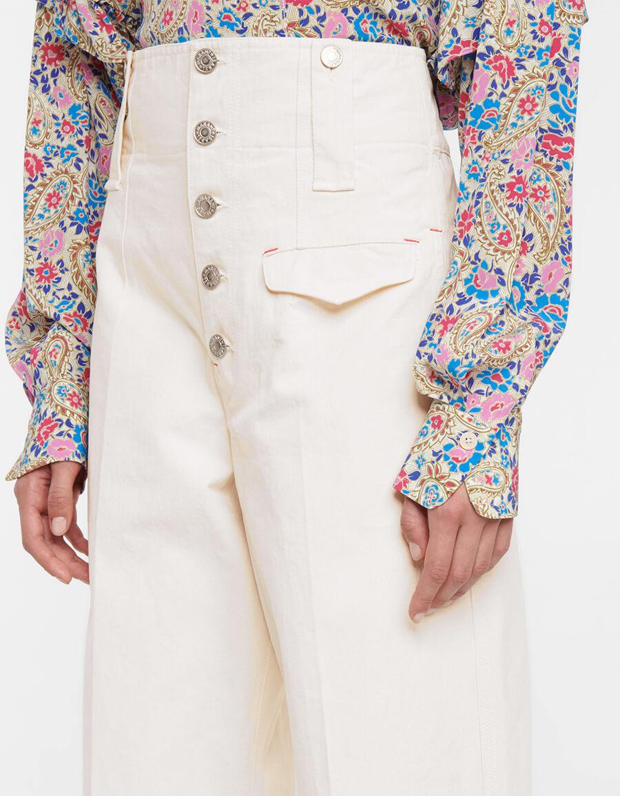 ISABEL MARANT Darlena cotton twill straight pants