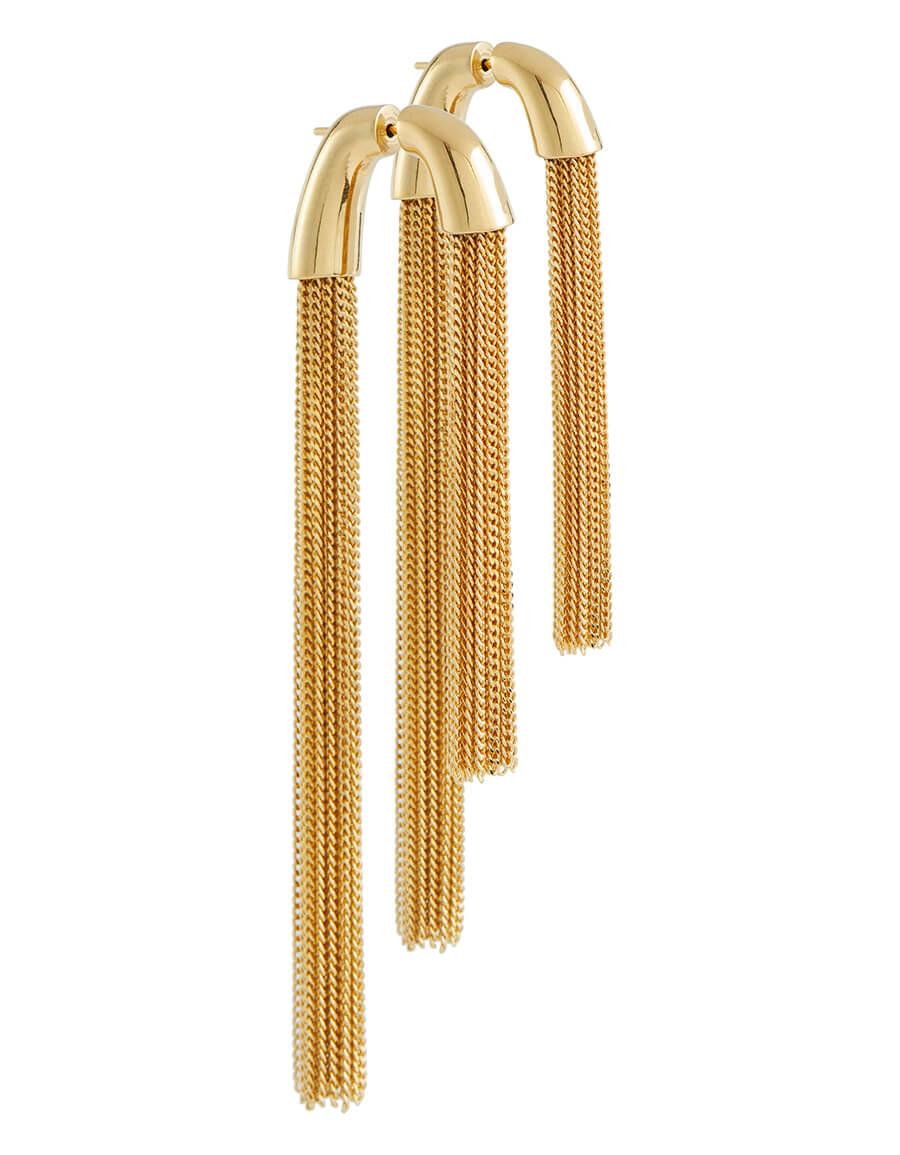 SAINT LAURENT Tassel chain earrings