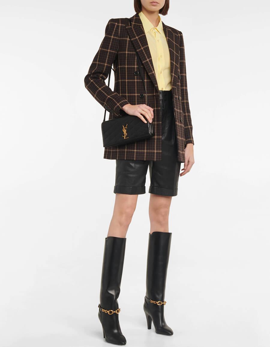 SAINT LAURENT Le Maillon leather knee high boots