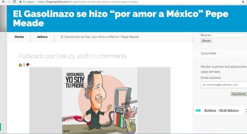 El Gasolinazo Se Hizo Por Amor A Mexico Es Una Frase Que Meade