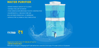 Zotezo Water Purifier Flash sale registartion