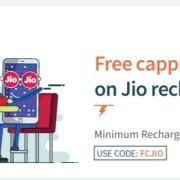 Freecharge free Cappuccino Jio Prime