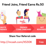 MCash App Loot : Get Unlimited Free Paytm Cash & Recharges + Rs 10 Per refer