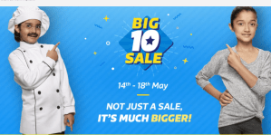 Flipkart Big 10 Sale Upto 90% Discount 14-18May 30Cashback Phonepe Wallet
