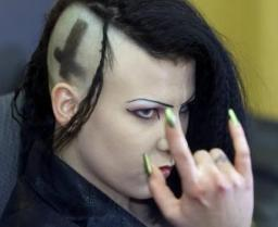 masonic hand signs: Self-proclaimed German vampire Manuela Ruda