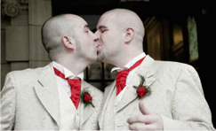 gays kissing