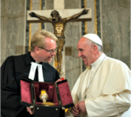 pope francis with lutheran leader