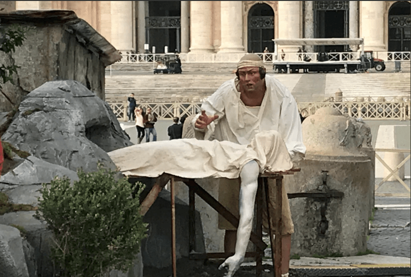 Vatican Nativity Scene 2017 - Dead Man