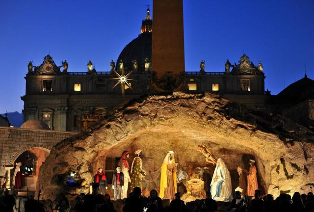 Vatican Nativity Scene 2012 St Peters