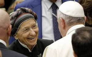 Pope Francis has publicly praised Italy's most notorious abortionist, Emma Bonino (left).