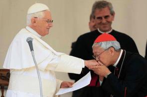 Cardinal Zen with Pope Benedict XVI
