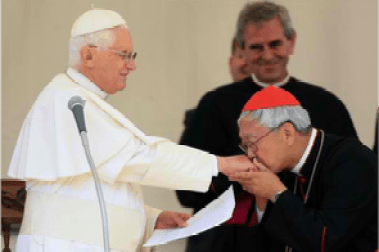 Cardinal Zen with Pope Benedict XVI