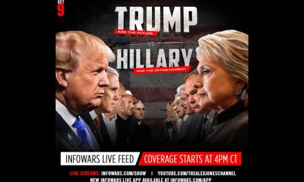 Infowars Presidential Debate Coverage-here is the link