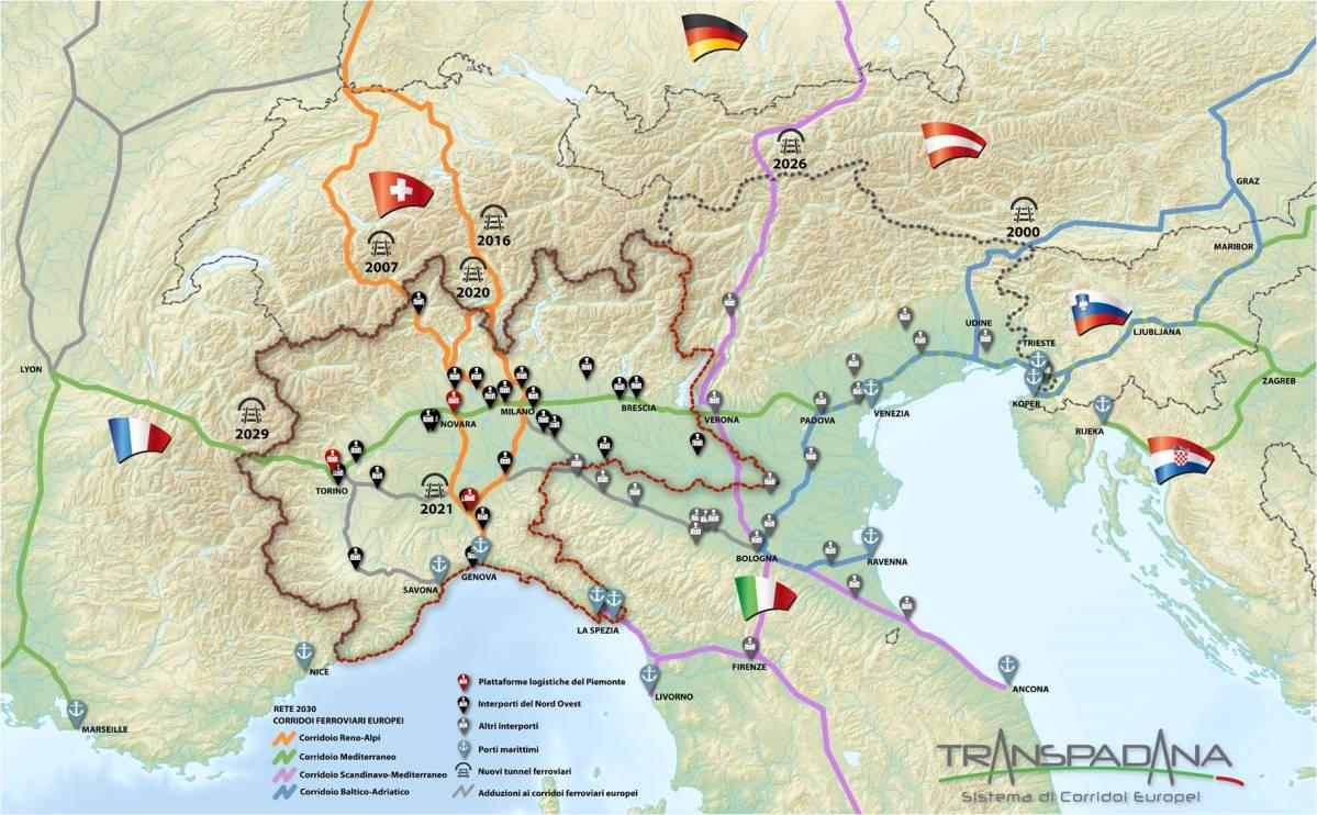 Corridoio Mediterraneo: sviluppo, consolidamento, integrazione con il Corridoio Reno-Alpi, con la portualità ligure e con gli altri Corridoi Europei