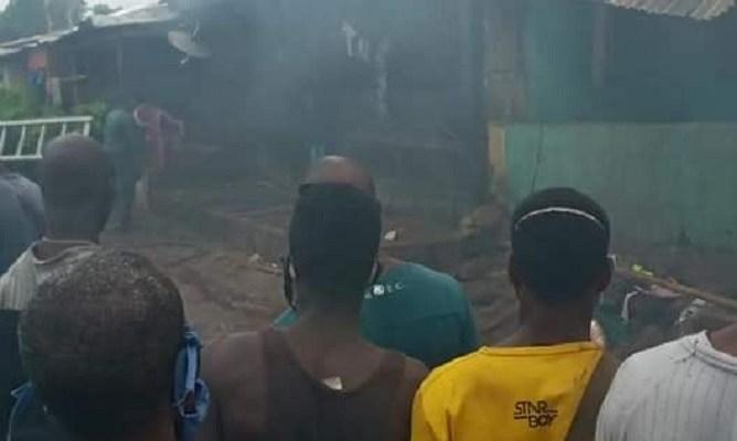 Un incendie dans une maison au quartier Matoto