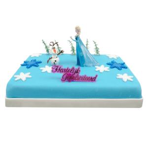 Frozen Elsa Marsepeintaart