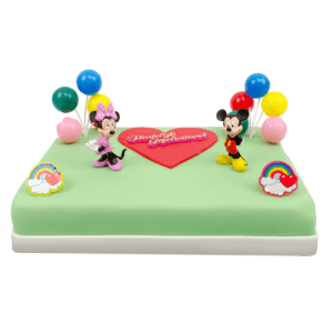 Mickey & Minnie Marsepeintaart
