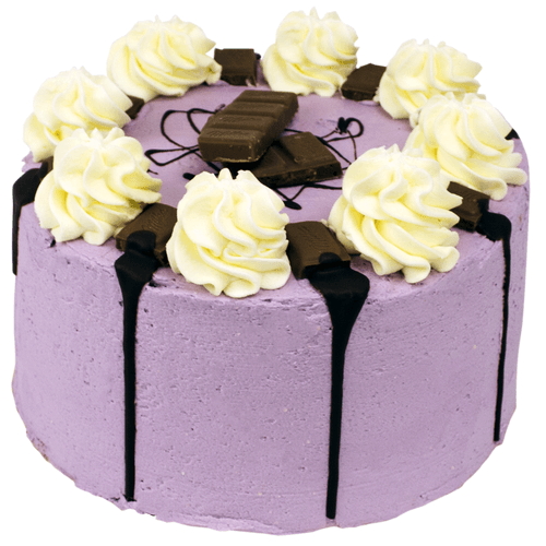 Purple Milka Crunch Layer Cake
