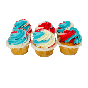Rood/Wit/Blauw Cupcakes