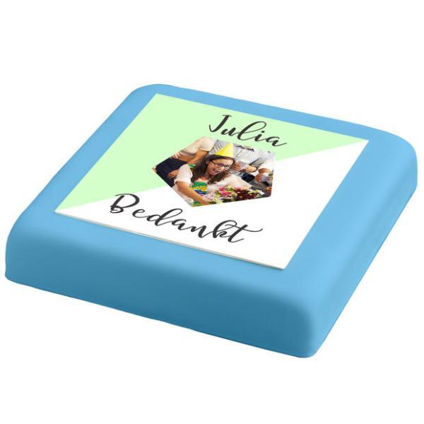 Blauwe Marsepein taart