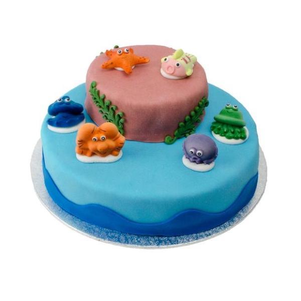 Zeedieren stapel taart