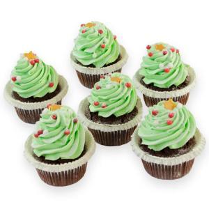 Kerstboom cupcakes