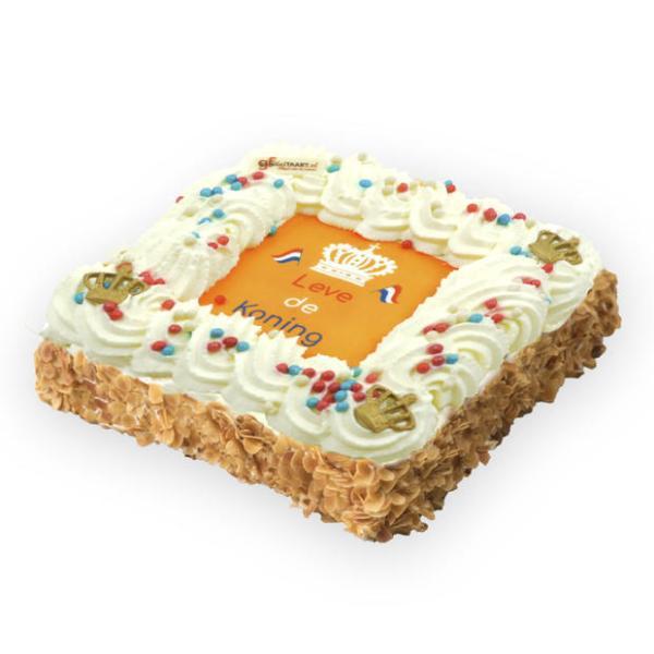 Koningsdag Slagroom taart