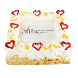 Ronald McDonald Kinderfonds slagroomtaart