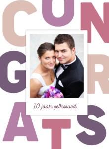 10 jaar jubileum huwelijk kaart