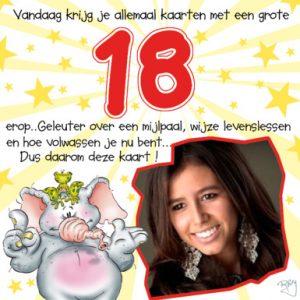 Populair Verjaardagswensen 18 jaar! Gefeliciteerd 18 jaar! TIP! &JR16