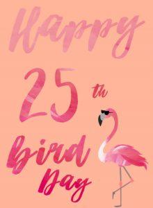 Verjaardagskaarten 25 jaar