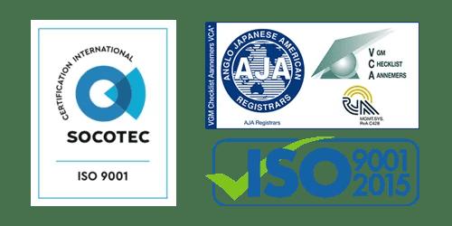 VCA en ISO Logo's Verlaagd Plafond Plaatsen