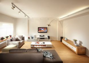 Koof Ventilatie en LED Verlichting Woonkamer