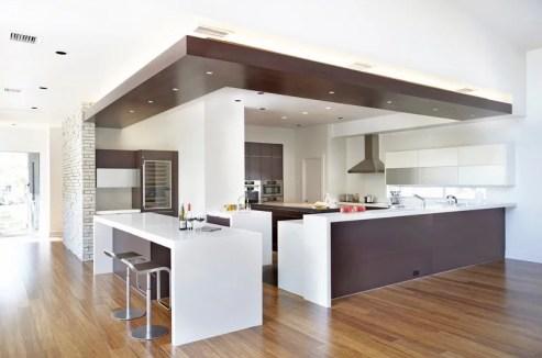Moderne Grote Keuken Plafond Inbouwspots