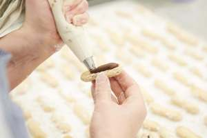 making of milk almond squeeze