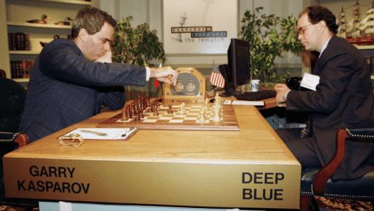 Gary Kasparov playing against Deep Blue