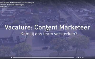 Vacature: Content Marketeer