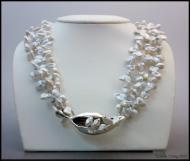 Milkweed Necklace with Keshi Pearls