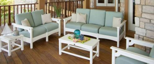 High End Outdoor Furniture by Polywood   Recycled Plastic Recycled Plastic Outdoor Furniture for Patio  Porch and Pool Deck