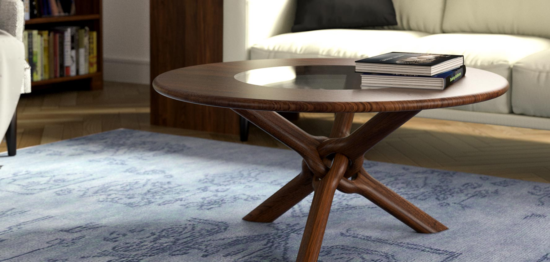 handcrafted wood coffee tables
