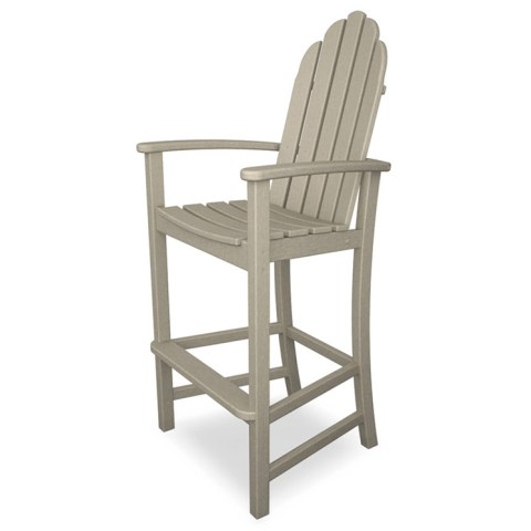 Adirondack Bar Chairs   Recycled Plastic Faux Wood   All Weather     Adirondack Bar Height Chair