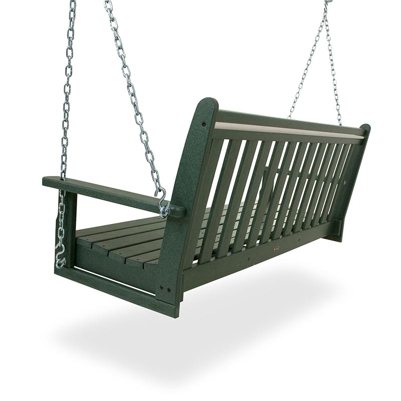 Polywood Vineyard 60 Inch Swing Bench USA Made Outdoor