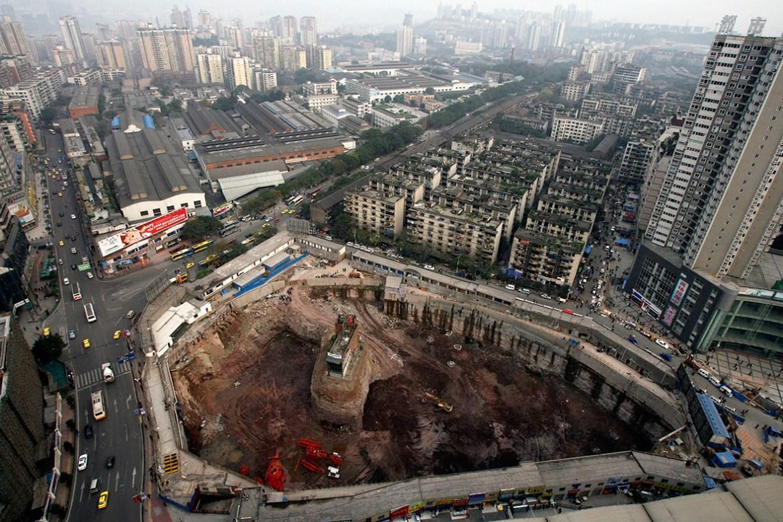 Les nail houses dingzihu en chine vernaculaire - Centre commercial pour la maison ...