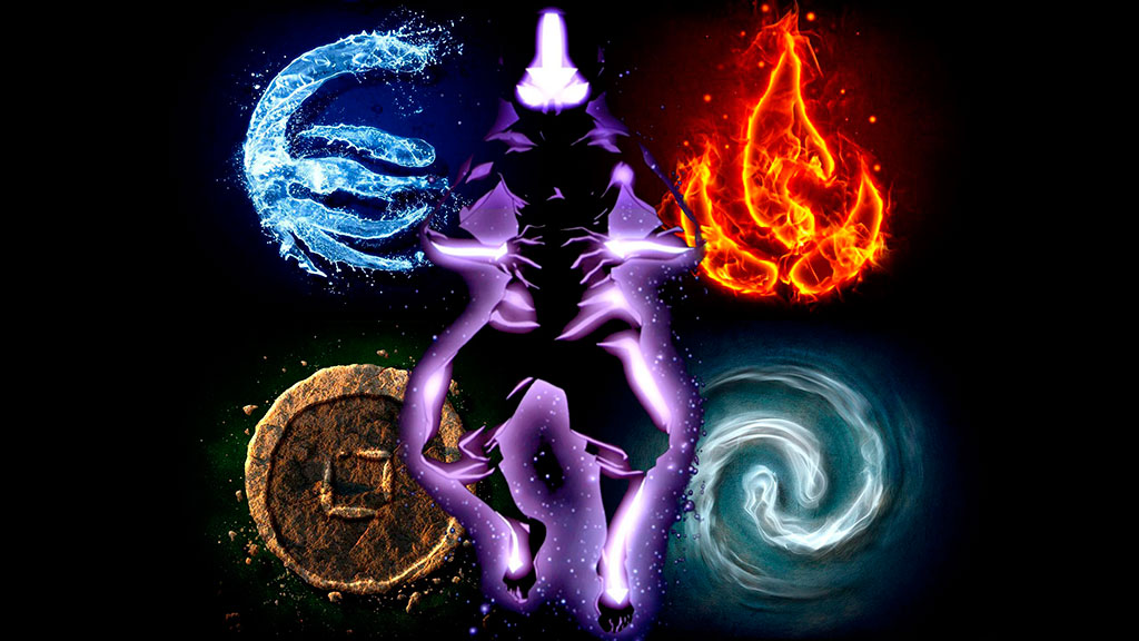 Hand shapes using the four elements