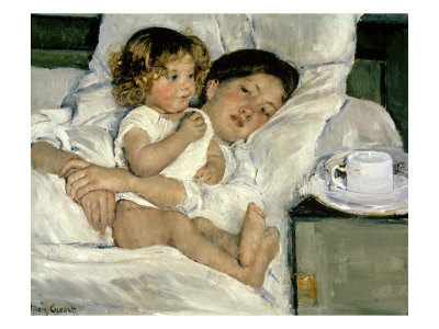 "Mary Cassatt ""Breakfast in Bed"""