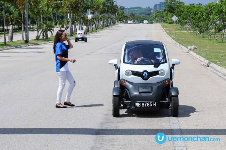 Renault Twizy and Maya Karin