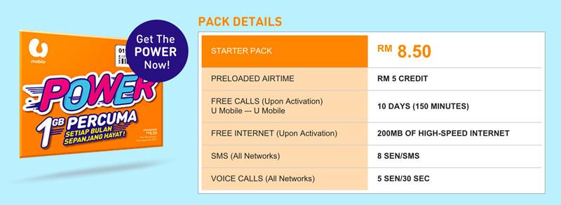 U Mobile Power Prepaid