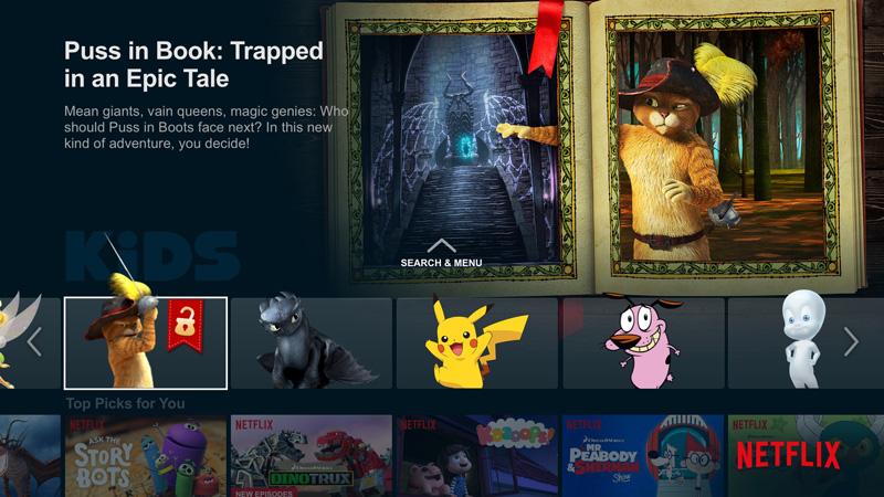 Netflix Puss In Book